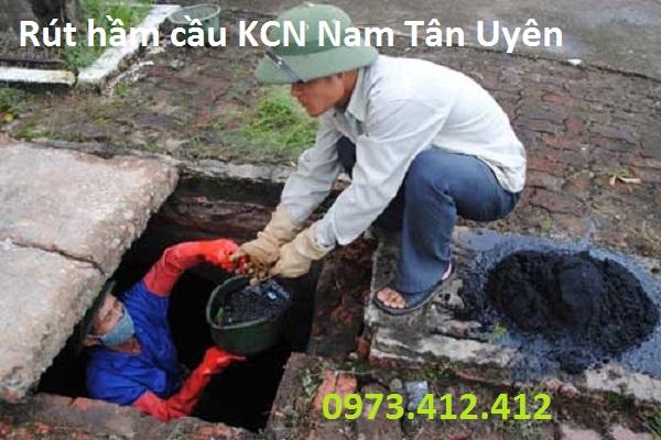 Rút hầm cầu KCN Nam Tân Uyên