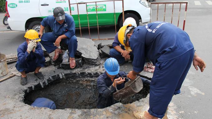 Nạo vét hố ga huyện Phú Giáo